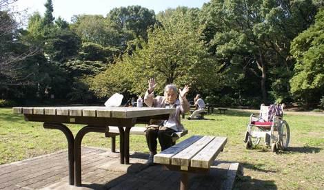 母の介護と車椅子での散歩風景・清澄庭園kiyosumi14.jpg