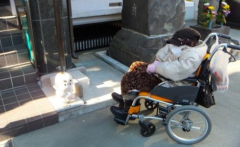 250102bisya-4.JPG母の介護と車椅子での散歩風景・深川七福神・毘沙門天