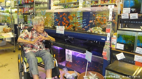 260809cohnan.JPG母の介護と車椅子での散歩風景・ホームセンターで