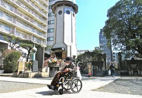 20160318ekoin-10.JPG母の介護と車椅子での散歩風景・回向院